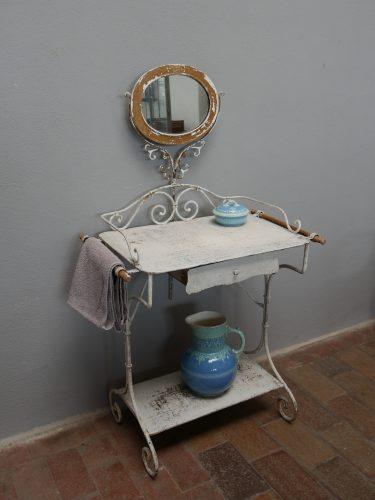 Charmanter schminktisch waschtisch metall frankreich um 1900 antikhandel lauke - Schminktisch metall ...